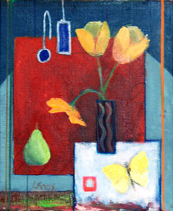Liz Knox 'Tulips and Butterfly'